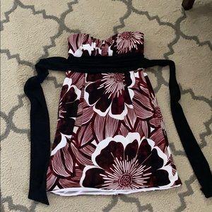 Teeze me burgundy floral dress